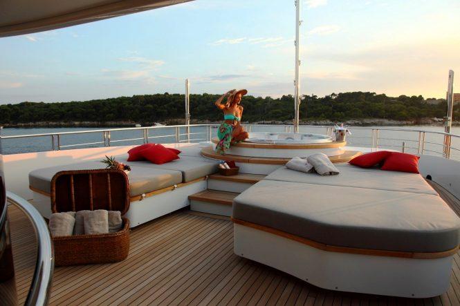 Jacuzzi spa on board