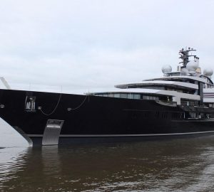 135m Mega Yacht CRESCENT by Lurssen delivered