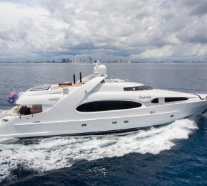 'No delivery fees' for 36m charter yacht CHARISMA in the Bahamas