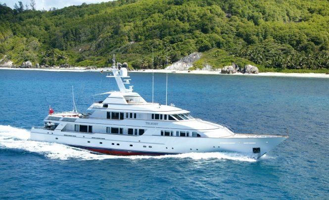 Luxury motor yacht TELEOST cruising