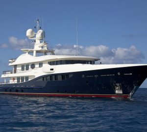 52m AMELS motor yacht DENIKI open for Christmas and New Year charters in Antigua, Caribbean
