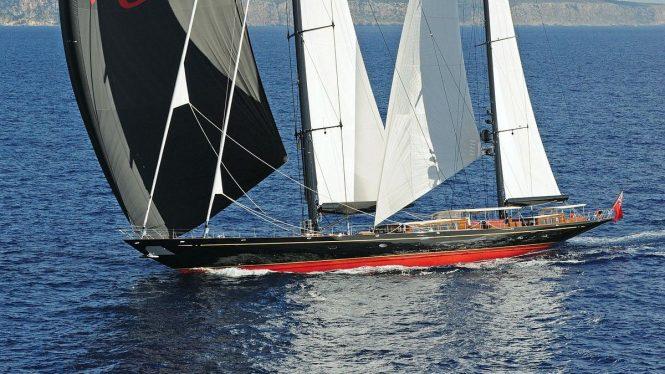 MARIE under sail