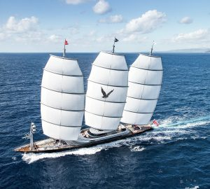 Sailing yacht Maltese Falcon takes overall victory in the Perini Navi Cup 2018