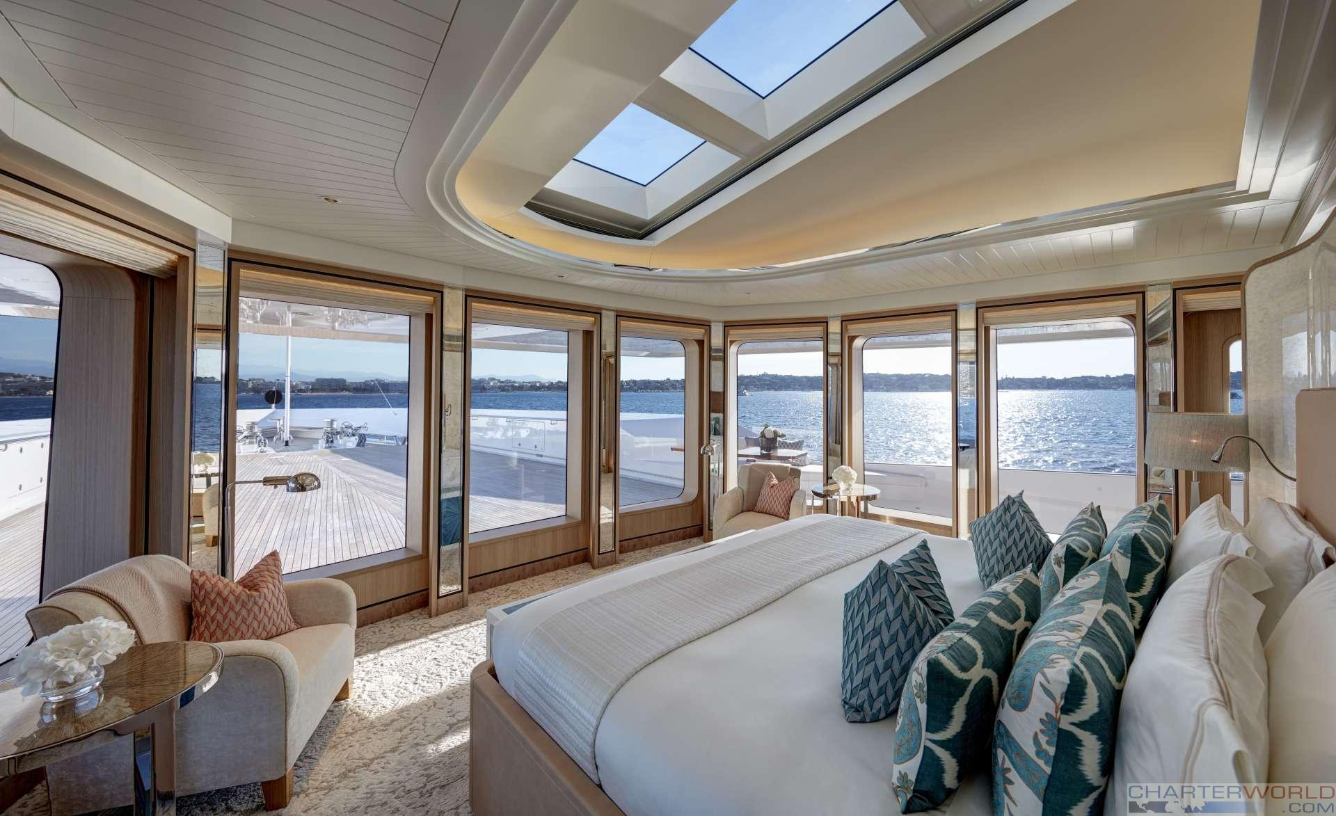 Master suite with fabulous views - Photo credit Feadship