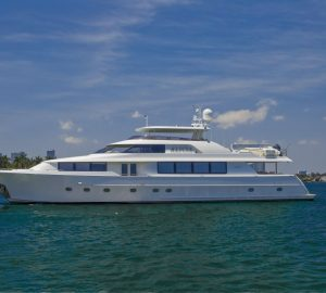 'No Delivery Fees' with 34m motor yacht ALICIA from Nassau