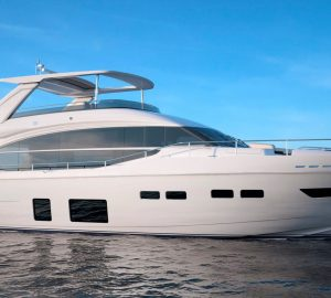 Charter brand new 24m Princess motor yacht LEMON NOT LIME in the Caribbean this Winter