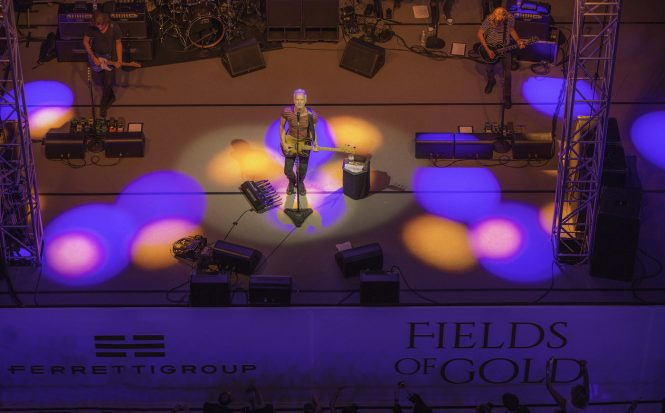 STING performing at the private Ferretti event in Monaco