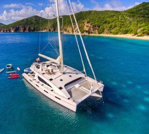 Catamaran yacht ZINGARA offering low-season charter rate in the Caribbean