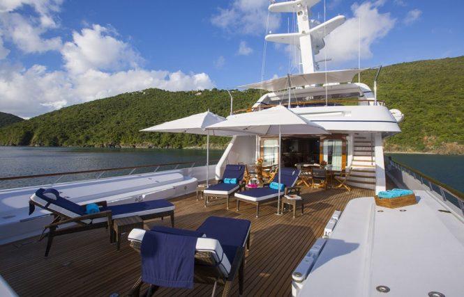 Spacious deck areas for sunbathing