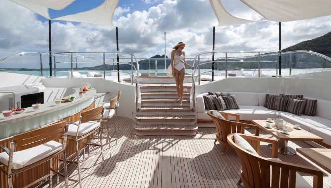 Superyacht lifestyle aboard SEANNA by Benetti