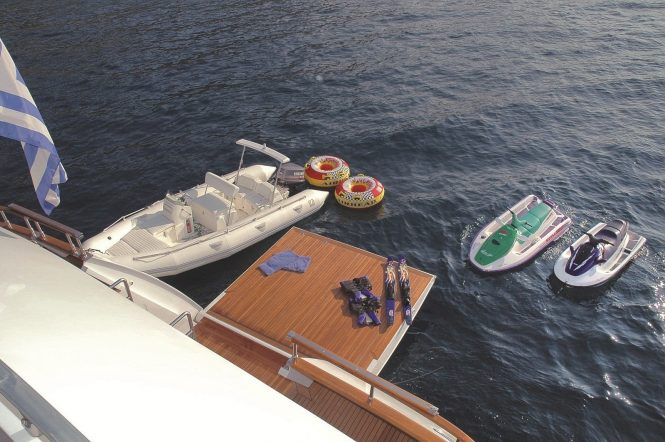 Water toys available to charter guests