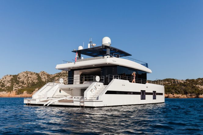 great space aboard Supreme 68 Power catamaran MARILOU by Sunreef Yachts