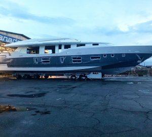 Construction update on superyacht Canados 120 Caesar