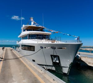 Cantiere delle Marche launch MIMI LA SARDINE - Nauta Air 110 superyacht