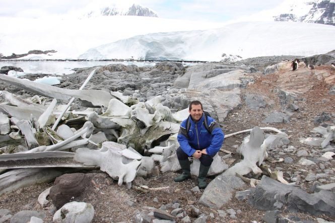 CharterWorld's Director of Charter in Antarctica with expedition yacht LEGEND - Photo © Nicolas Benazeth