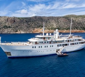 70m mega yacht SHERAKHAN offering Caribbean Charter Special