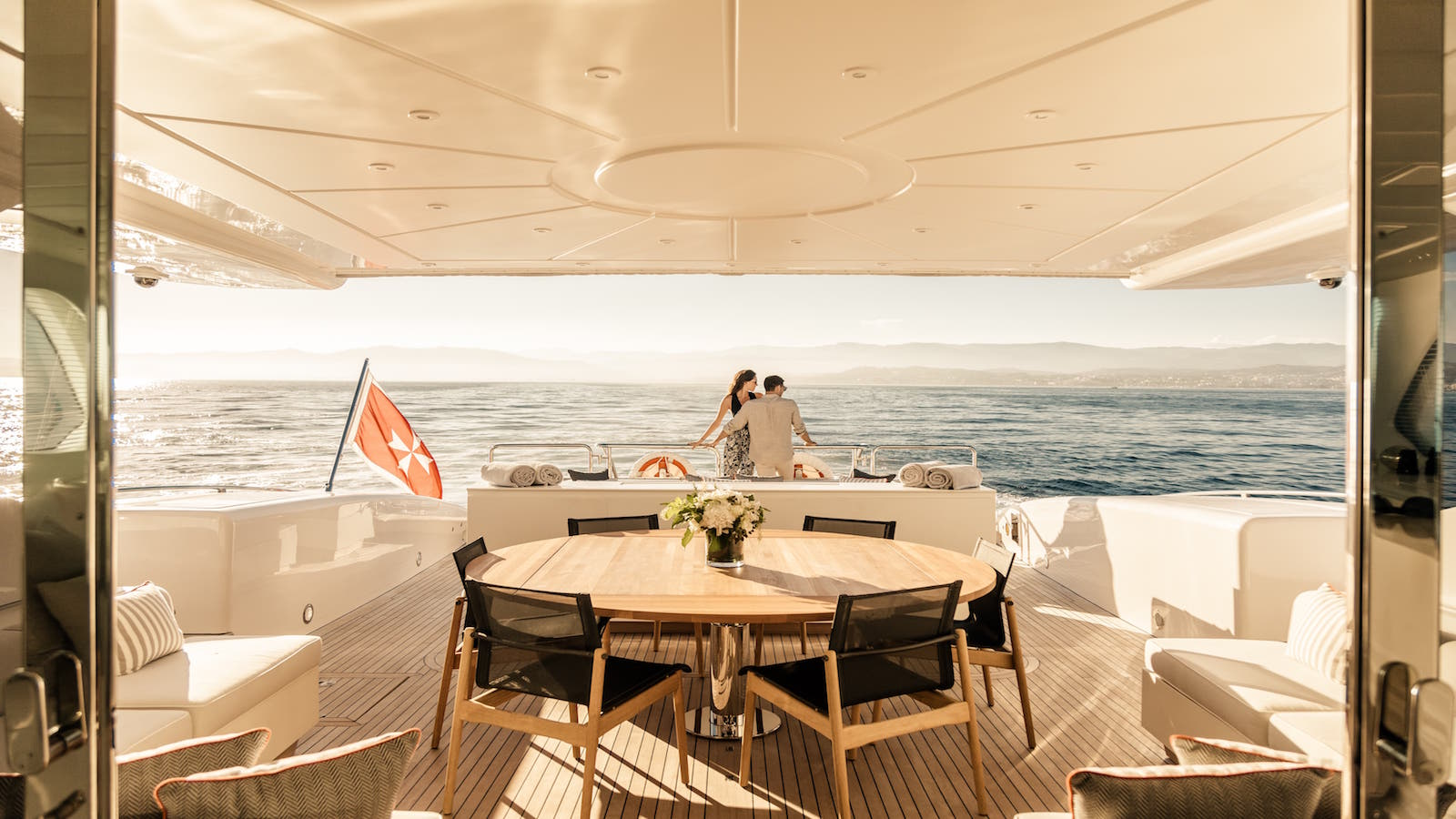 Complete relaxation in privacy on a luxury yacht charter