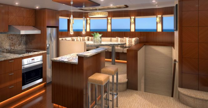 Galley and dining - Rendering by Karen Lynn Interior Design
