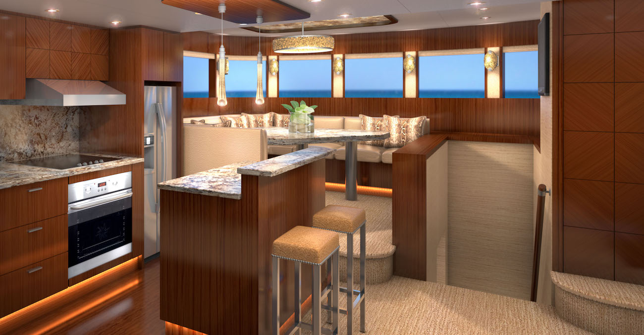 Galley and dining - Rendering by Karen Lynn Interior Design