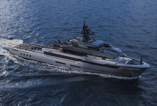 HOT LAB 67 M EXPLORER BY VSY running profile of the superyacht