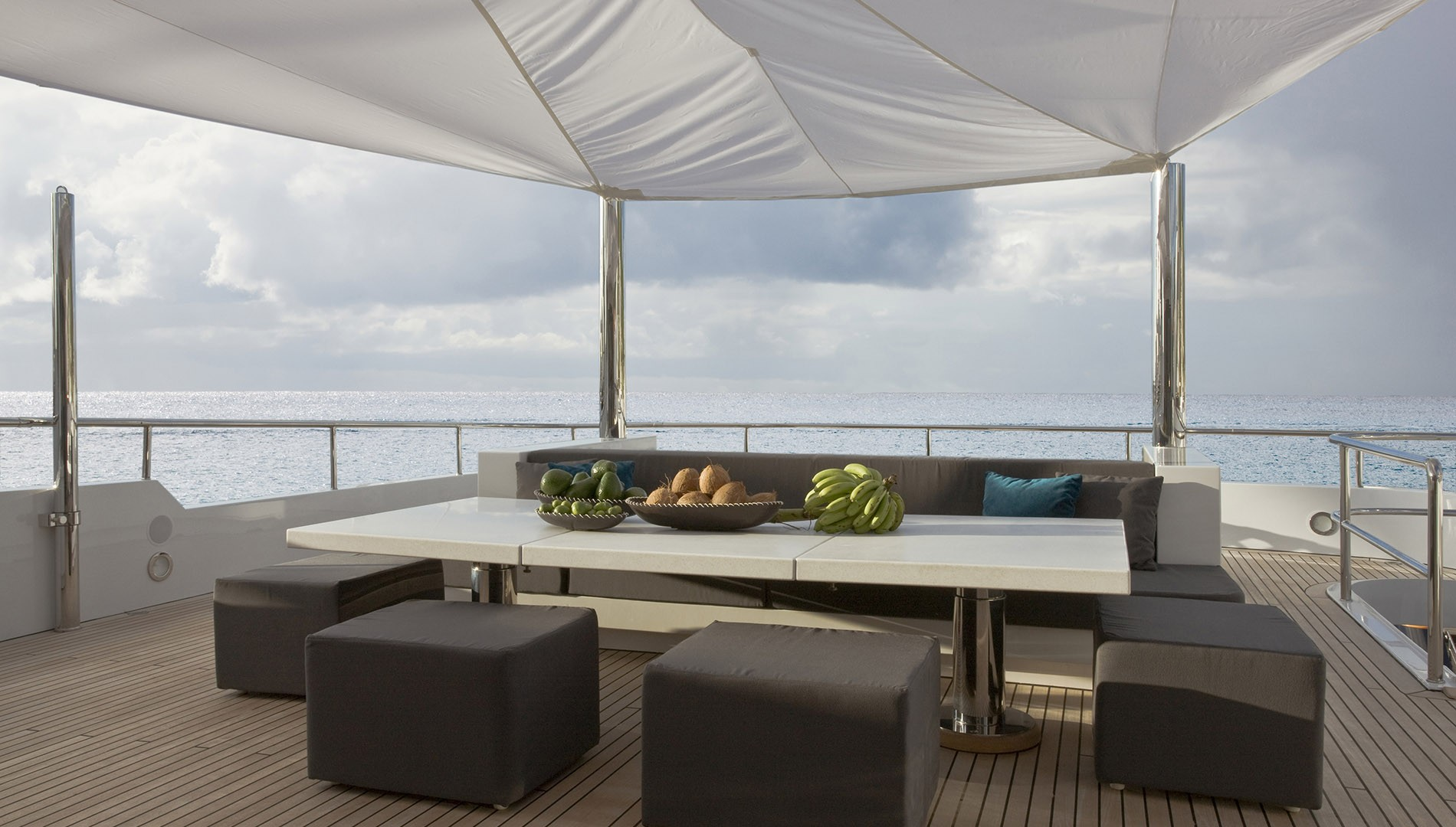 Lounging area with great views