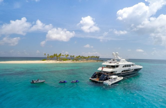 Luxury motor yacht REBEL available for charter in the Bahamas