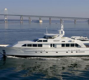 55m Superyacht Cynthia ready to host guests for Caribbean and Bahamas charter vacations