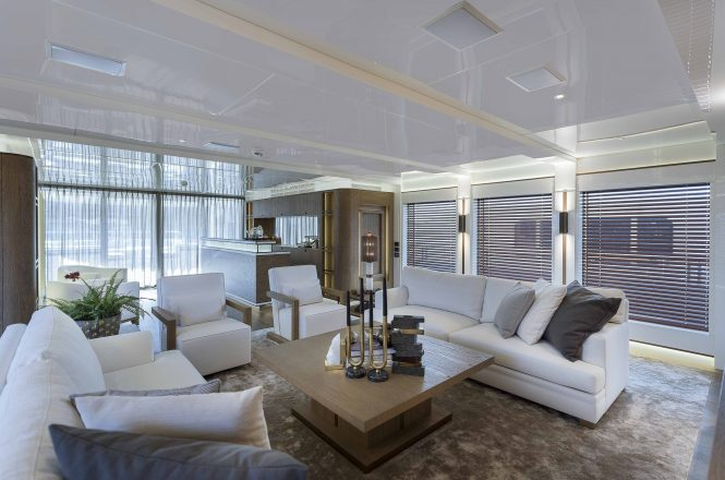 Modern and bright interior decor with comfortable furnishings