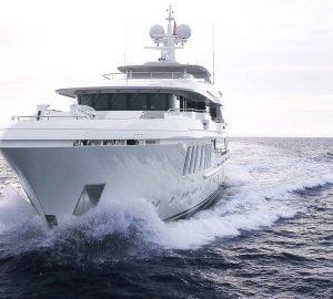 47m motor yacht LIQUID SKY still available for Christmas in the Caribbean