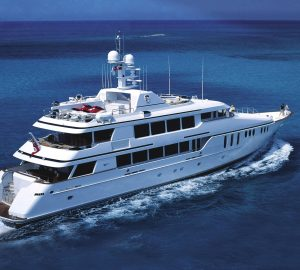 10% Off Bahamas and Florida crewed yacht charters aboard 45m CLAIRE