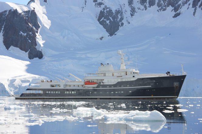 Motor yacht LEGEND in Antarctica - Photo © Nicolas Benazeth