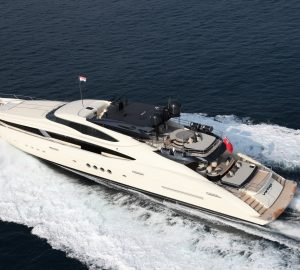 Striking 45m Yacht VANTAGE ready for crewed Thanksgiving charter in the Bahamas