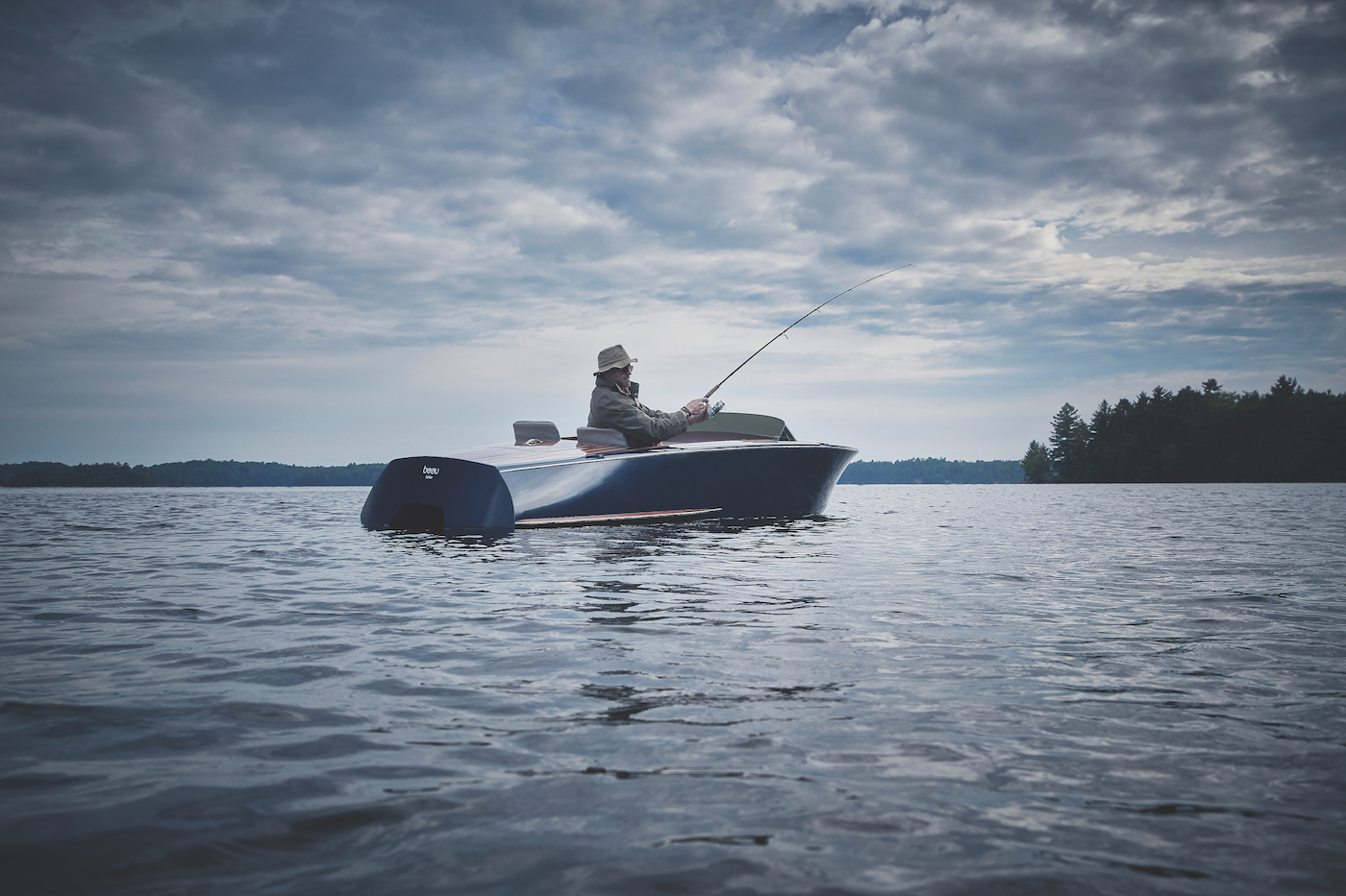 One of a kind luxury fishing experience with Beau Lake pedal boats - Photo credit Beau Lake