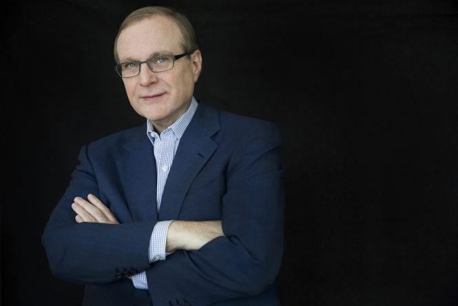 Paul Allen pictured in 2014- Credit Courtesy of Vulcan Inc - Photo by Beatrice de Gea
