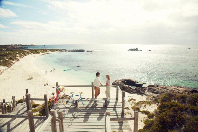 Pinky Beach - Rottnest Island - WA - Credit to Tourism Australia - Photo by Hugh Stewart