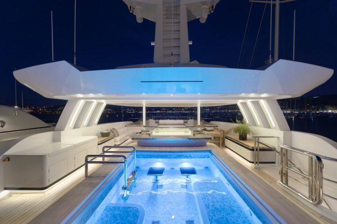 Pool aboard Motor Yacht LIQUID SKY by CMB Yachts - sundeck