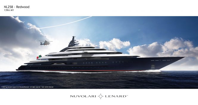 Project REDWOOD designed by Nuvolari Lenard and built by Lurssen