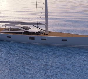Baltic 112 Custom sailing yacht Liara nears completion