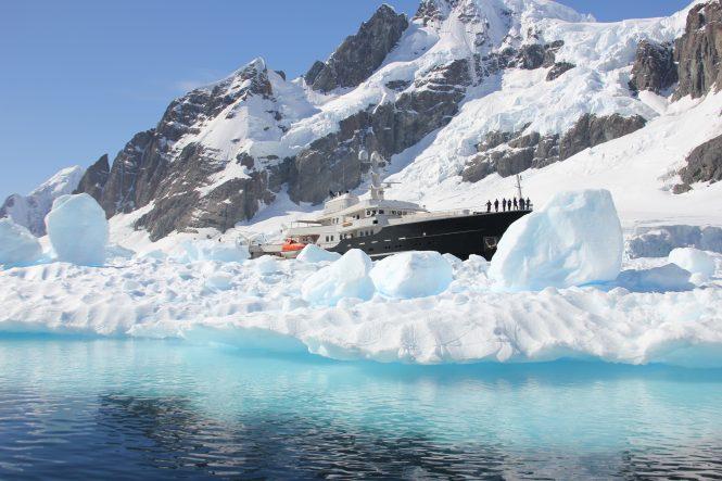 Spectacular charter experience in Antarctica with mega yacht LEGEND - Photo © Nicolas Benazeth
