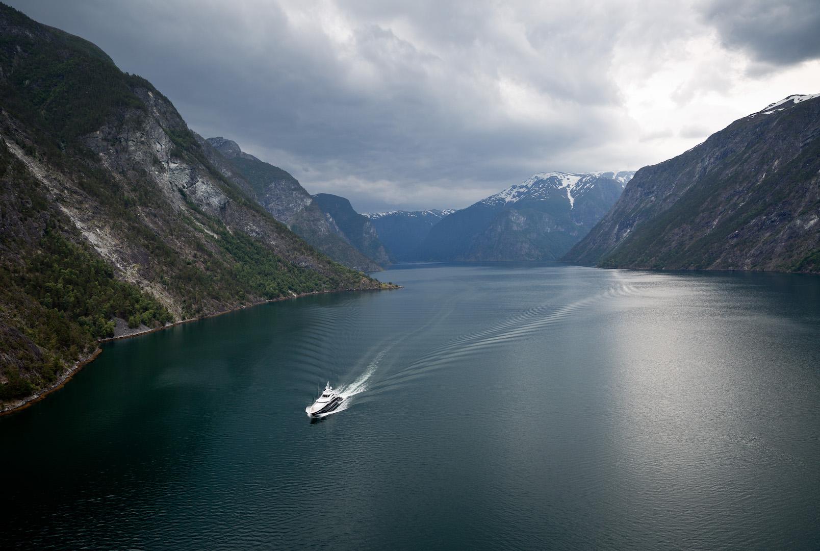 Superyacht Ann G in Norway - Photo courtesy Jeff Brown