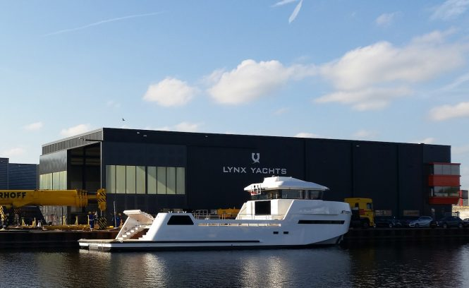 XYT 24 Evolution superyacht support vessel on water at Lynx Yachts - Credit Lynx Yachts