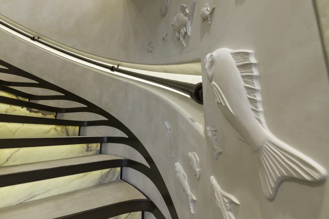 amazing attention to detail - stairwell