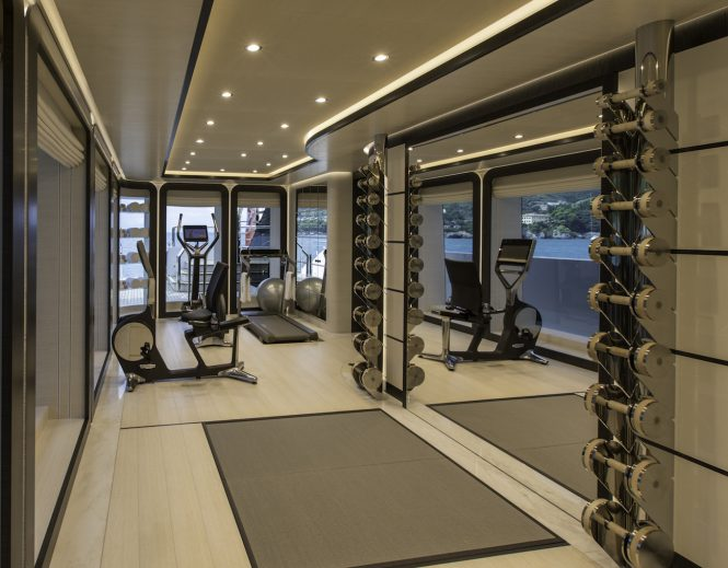 fully-equipped gymnasium