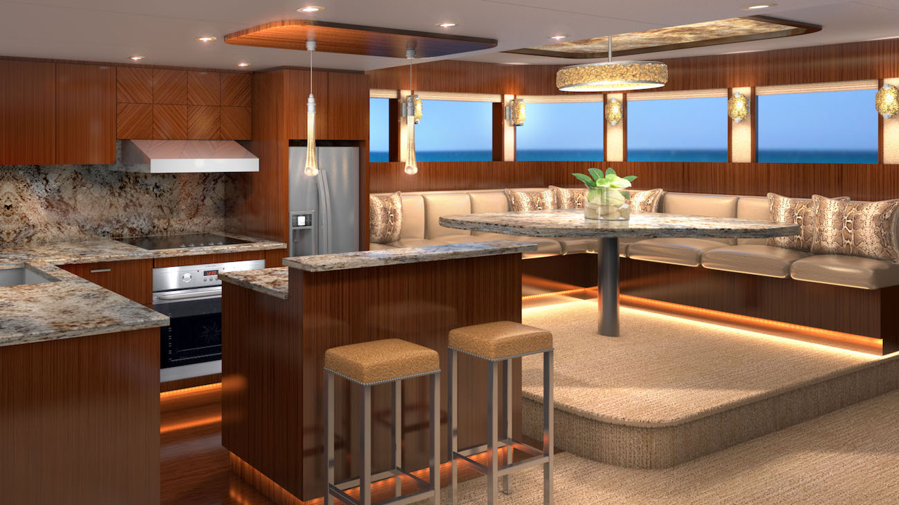 galley and dining area - Rendering by Karen Lynn Interior Design