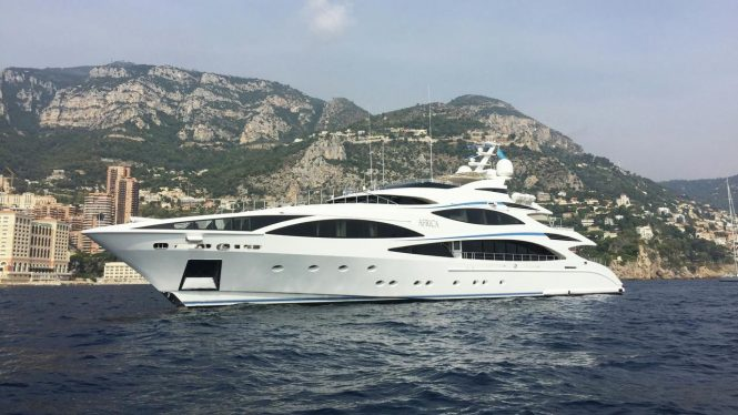 AFRICA - great charter yacht available both in the Med and the Caribs