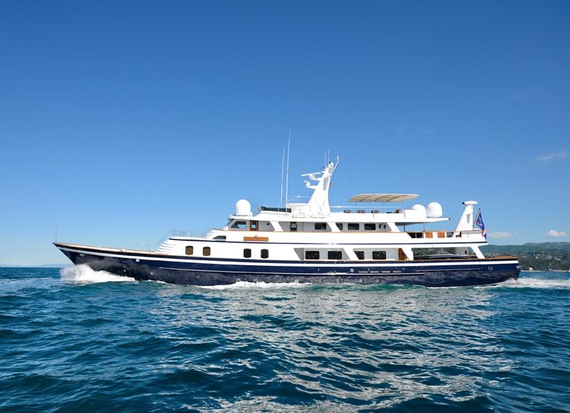 ATLANTIC GOOSE - lovely classic motor yacht for charter