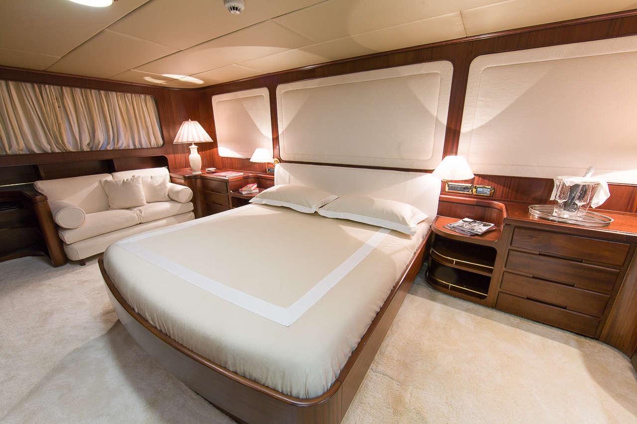Accommodation aboard motor yacht INDIA