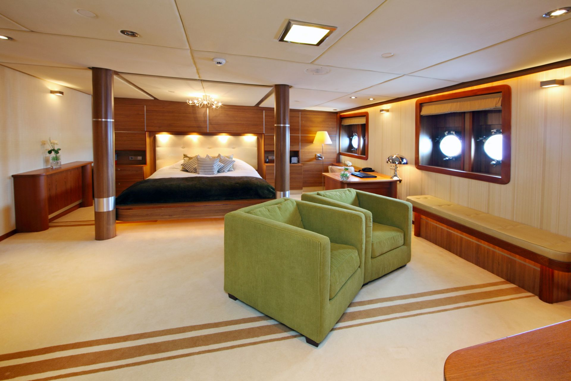 Accommodation is spacious with deluxe design