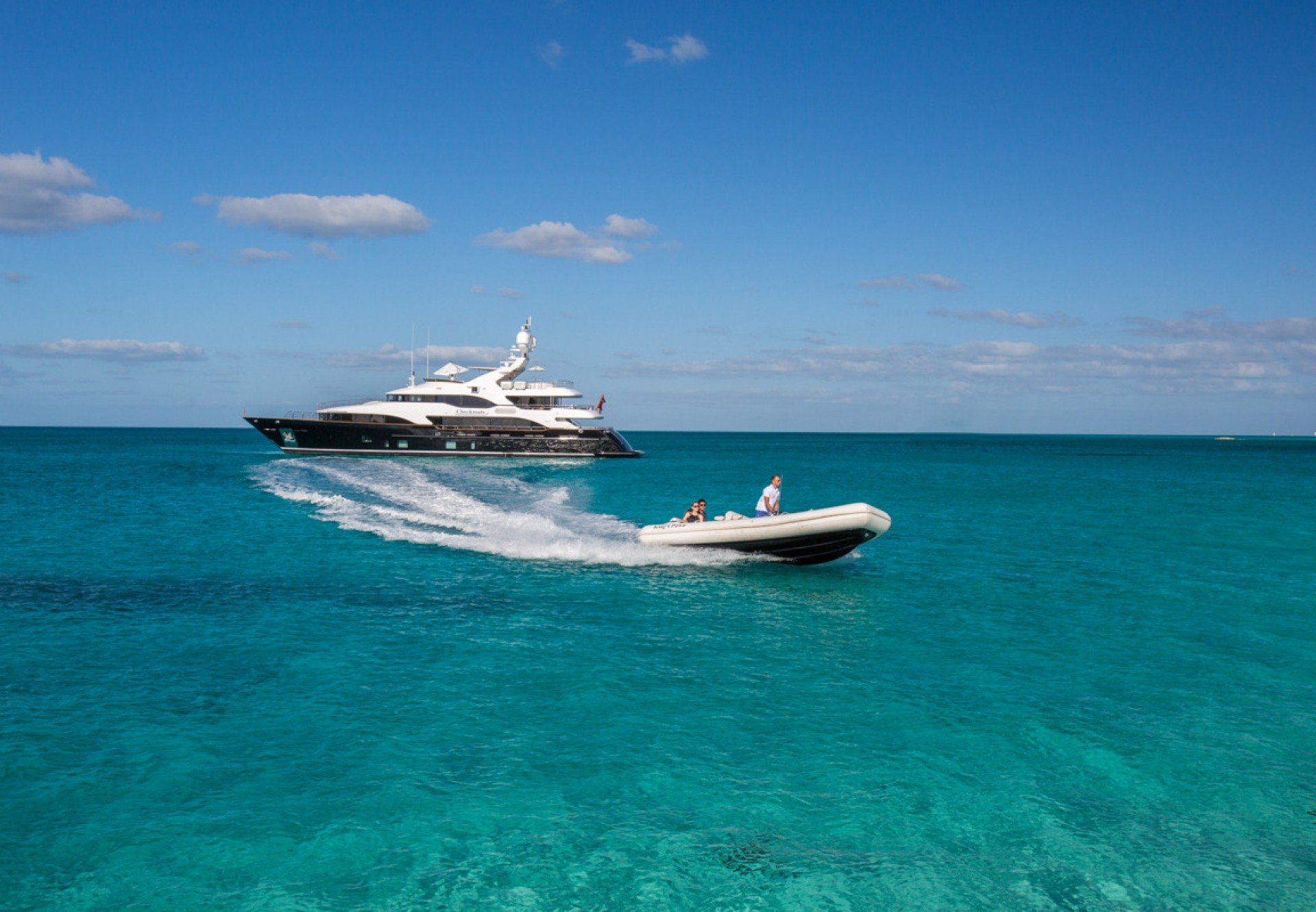 CHECKMATE motor yacht with tender