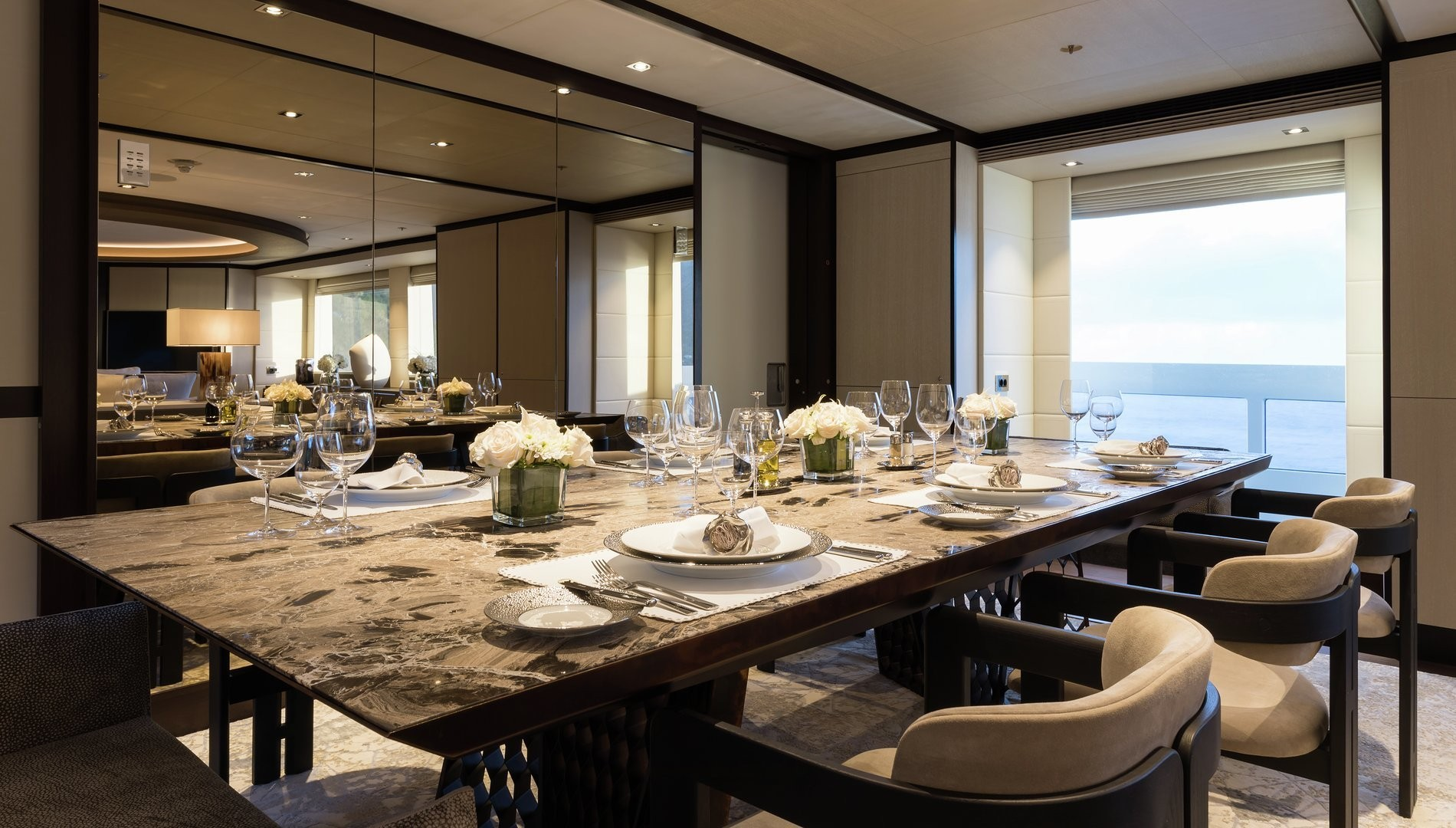 Elegant dining area to welcome all guests for a formal meal